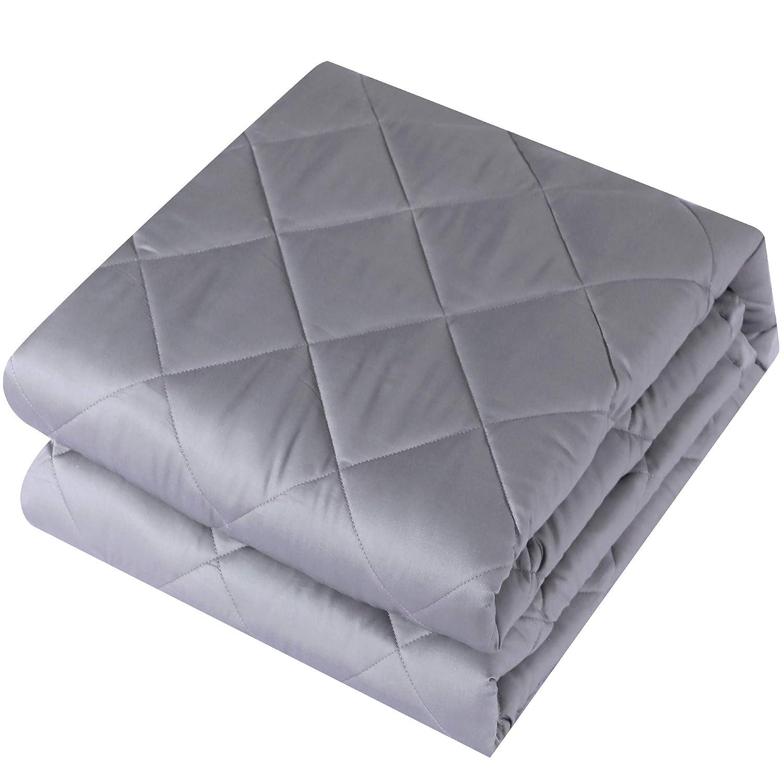 重みのあるブランケット 通気性に優れたコットン100% 高級ガラスビーズ付き ベッド/ソファ用 48