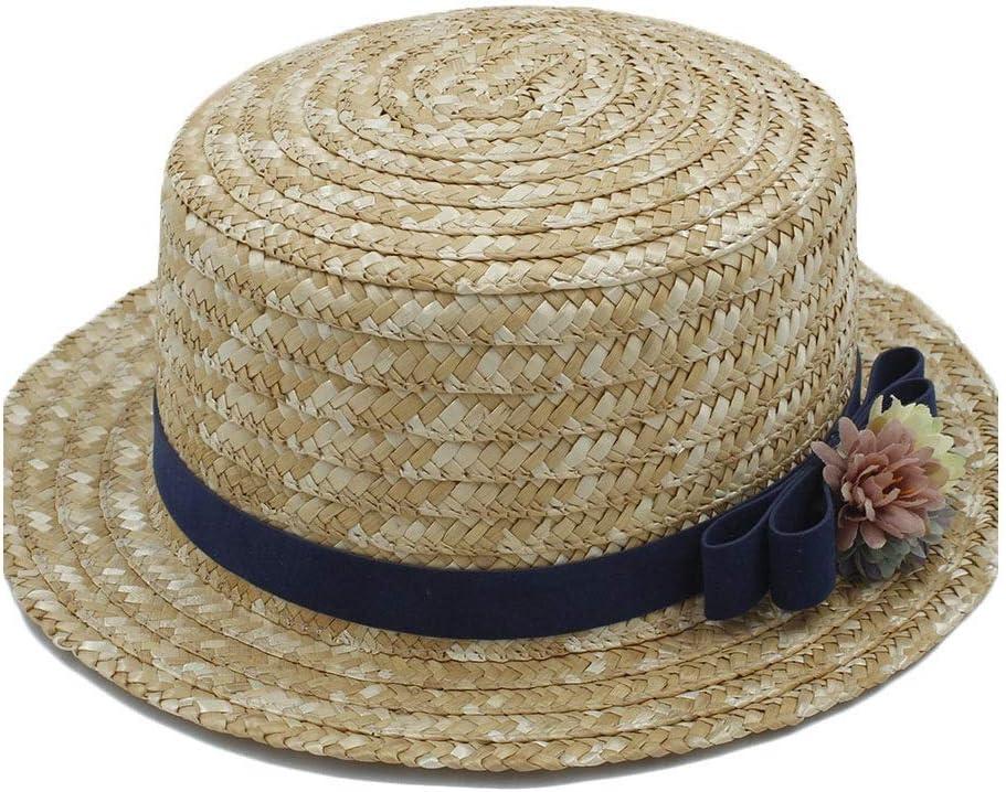 Caps Summer Hipster Sun Beach Hat Summer Sailor Beach Hat Casual Female Flat Hat Straw Hat Beach Flower Flat Sunbonnet Bowler Hat Travel Hat Jazz Hat Accessories Hat Wide Brim Hat Panama Fashion Hats