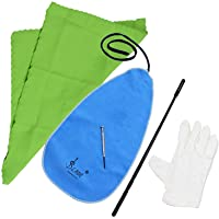 Flute Cleaning Kit Set with Cleaning Cloth Stick Screwdriver Gloves,Cleaning Cloth