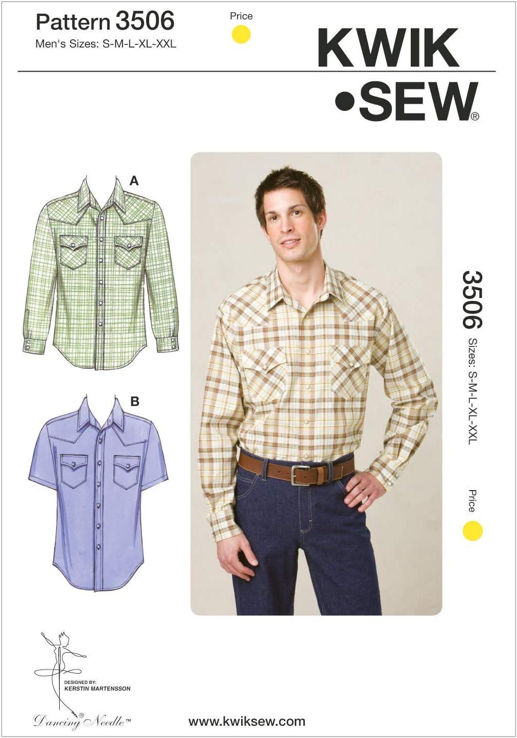 Kwik Sew K3878 Shirts Sewing Pattern Size S-M-L-XL-XXL