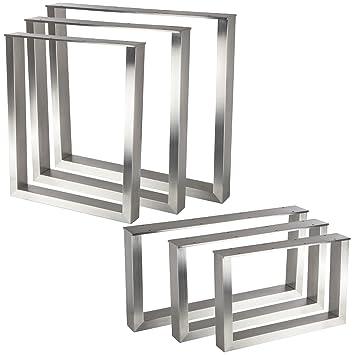Exclusives Tischgestell Kufe Echt Edelstahlprofil 80 X 40 Mmhöhe 400 Mmtiefe 600 Mm Höhenverstellbar Couchtisch Untergestell Rahmengestell Von