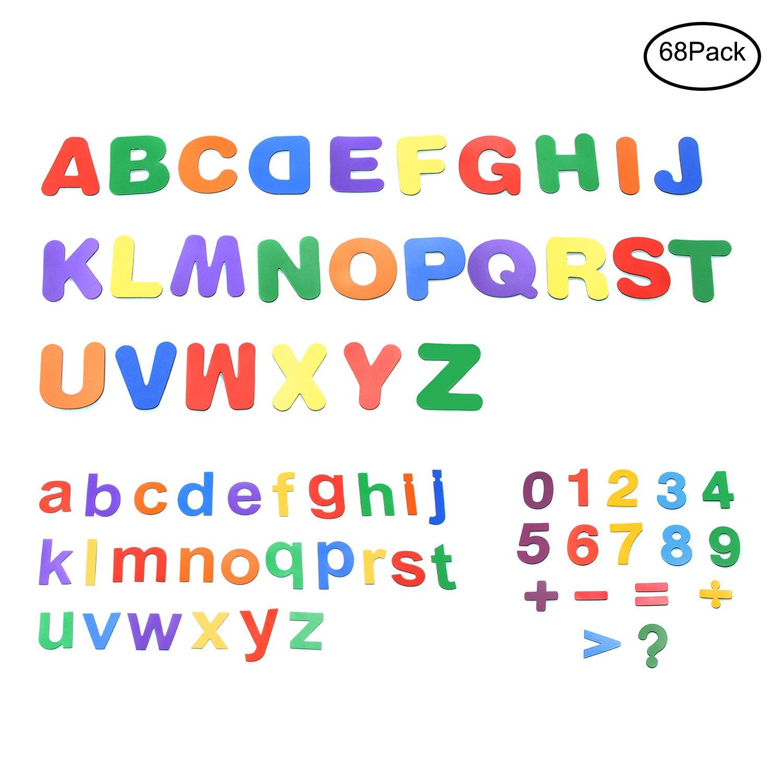 Letras y números magnéticos fuertes para niños, alfabeto educativo no tóxico para aula 68 piezas – Pawhits alfabeto educativo no tóxico para aula 68 piezas - Pawhits