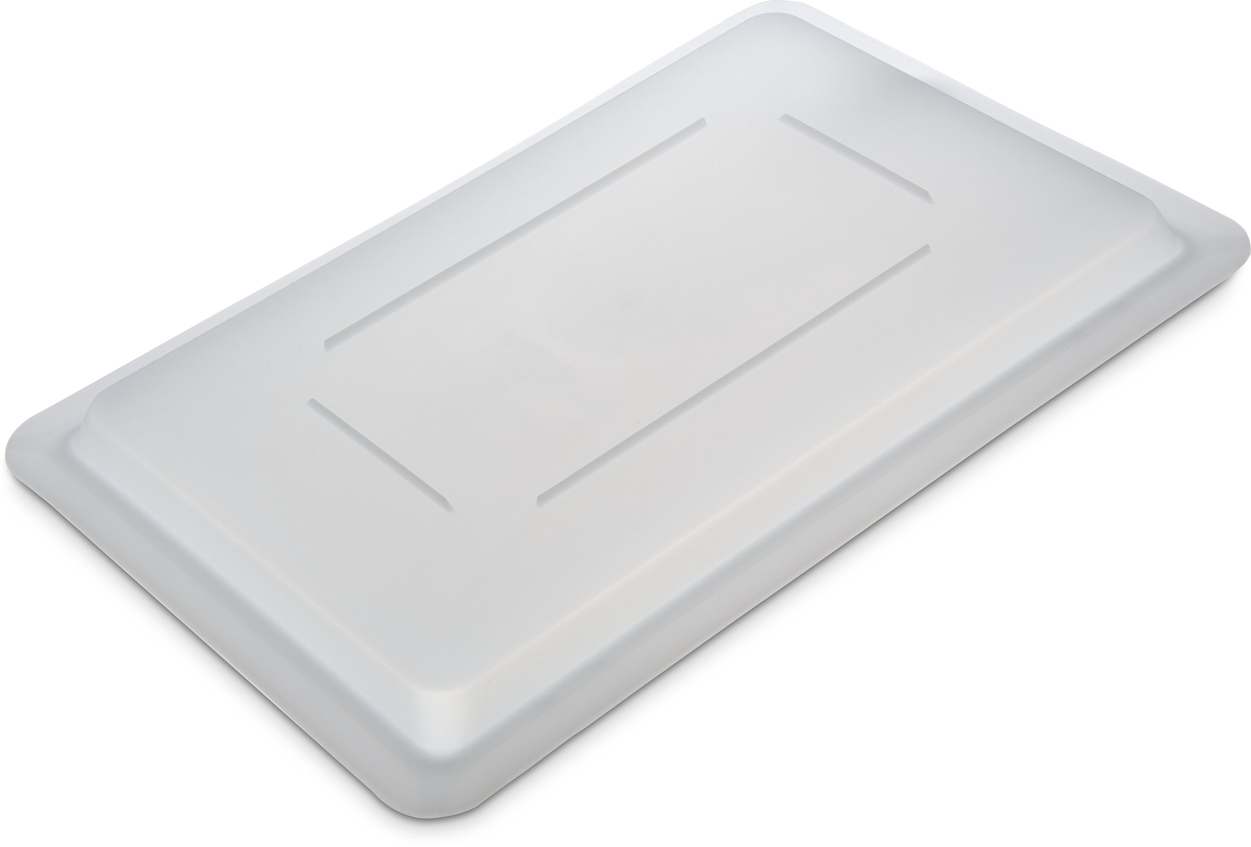 Carlisle 1063702 StorPlus Polyethylene Lock-Tight Lid, 18 x 12 x 1.28'', White, For StorPlus Food box (Case of 6) by Carlisle