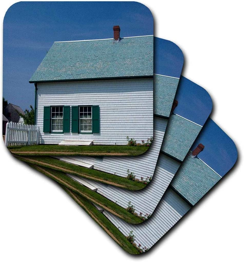 3dRose CST_74492_3 Prince Edward Island, Anne of Green Gables Home-Cn09 Cmi0158 Cindy Miller Hopkins Ceramic Tile Coasters, (Set of 4)
