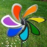 Edelstahl Windrad Windspiel 28 cm Blume Solid made in Germany Gartendeko