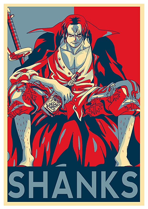Instabuy Poster One Piece Propaganda Shanks A3 42x30 Cm