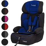 Froggy® Autokindersitz Gruppe I/II/III (9-36 kg) + Sicherheitsnorm ECE R44/04 geprüft & zugelassen + 5-Punkte-Sicherheitsgurt Verstellbare Kopfstütze