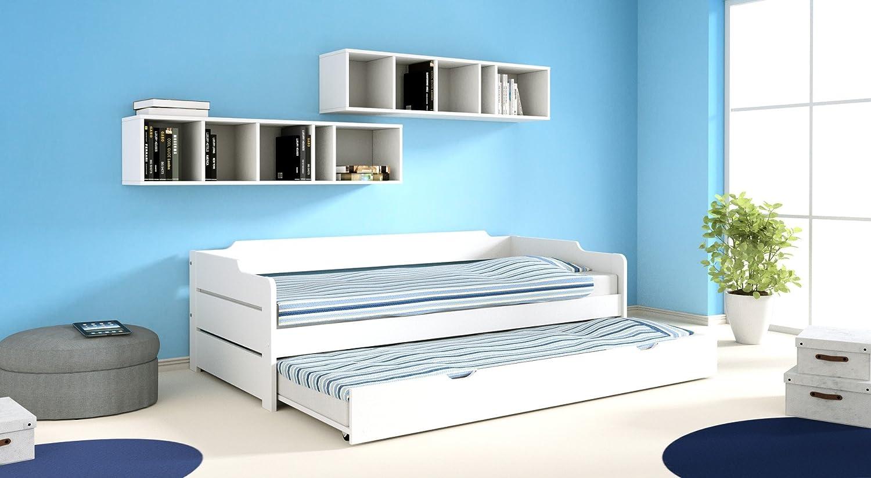 Alfred & Compagnie; Pack cama nido + 2 colchón Arthur blanco 90x200