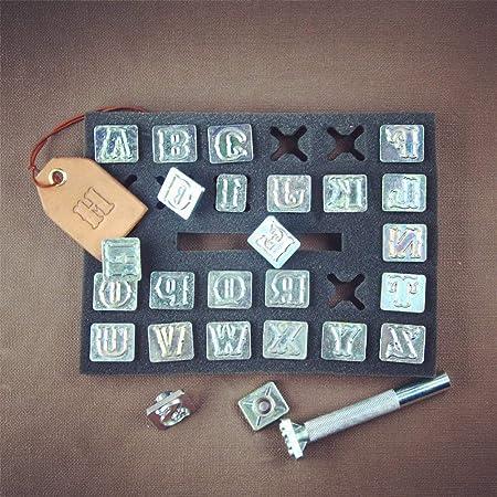 XIYAO Lettre Alphabet et Num/éro Timbre Poin/çon Kit Artisanat En Cuir Timbres Outils pour Bricolage /À La Main Art Travailler