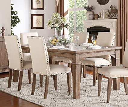 Amazon Mill Valley Dining Table With 48 Leaf In Weathered Cool Picture Of A Dining Room