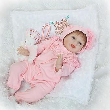 Amazon.es: NPKDOLL Reborn bebé muñeca suave Simulación Silicona ...