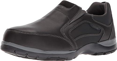 Rockport Shoes RK6674 Kingstin Men/'s Black Steel Toe EH Slip On Work Oxfords