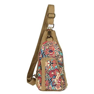 103fae6ed5 Cool Outdoor Sports Casual Canvas Unbalance Backpack Crossbody Sling Bag  Shoulder Bag Chest Bag