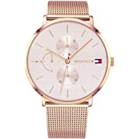 Tommy Hilfiger Womens Multi dial Quartz Watch with Rose Gold Strap 1781944