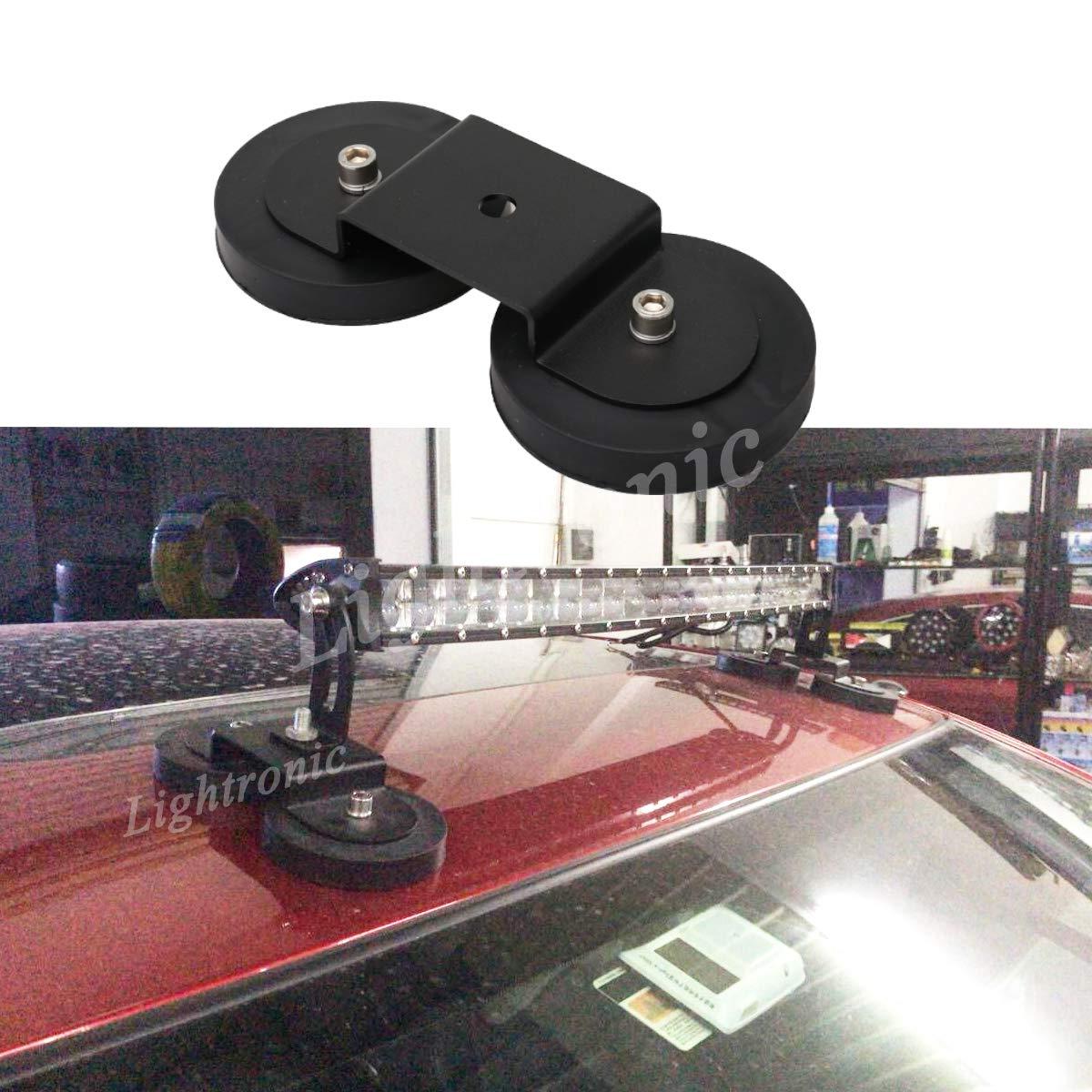 tractor Lightronic Soporte de base magn/ético fuerte para luz de trabajo LED con soporte f/ácil de instalar cami/ón SUV