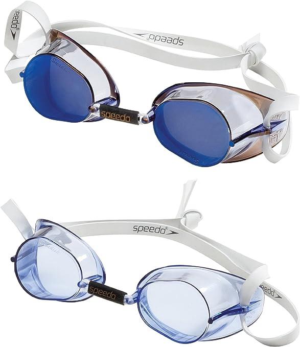 Patológico Idear Ese  Speedo Anteojos para nadar, suecos, 2 unidades Azul/Blanco Una talla:  Amazon.com.mx: Deportes y Aire Libre