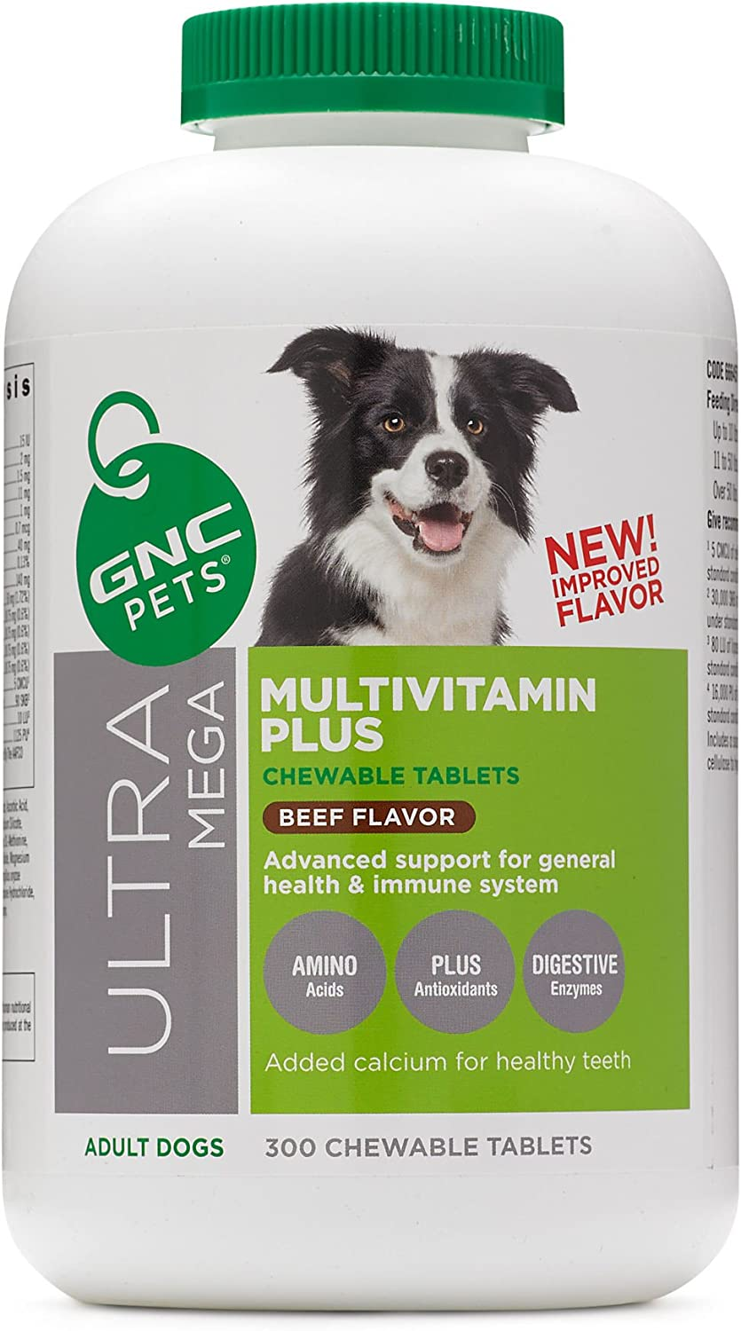 GNC Pets Ultra Mega Multivitamin Plus Beef Flavor Adult Dogs 300 tablets