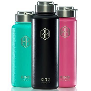 Amazon.com: La botella de agua de metal de KIND HUMANS ayuda ...