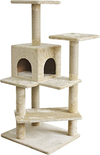 AmazonBasics Cat Tree with Condo, Scratching Posts