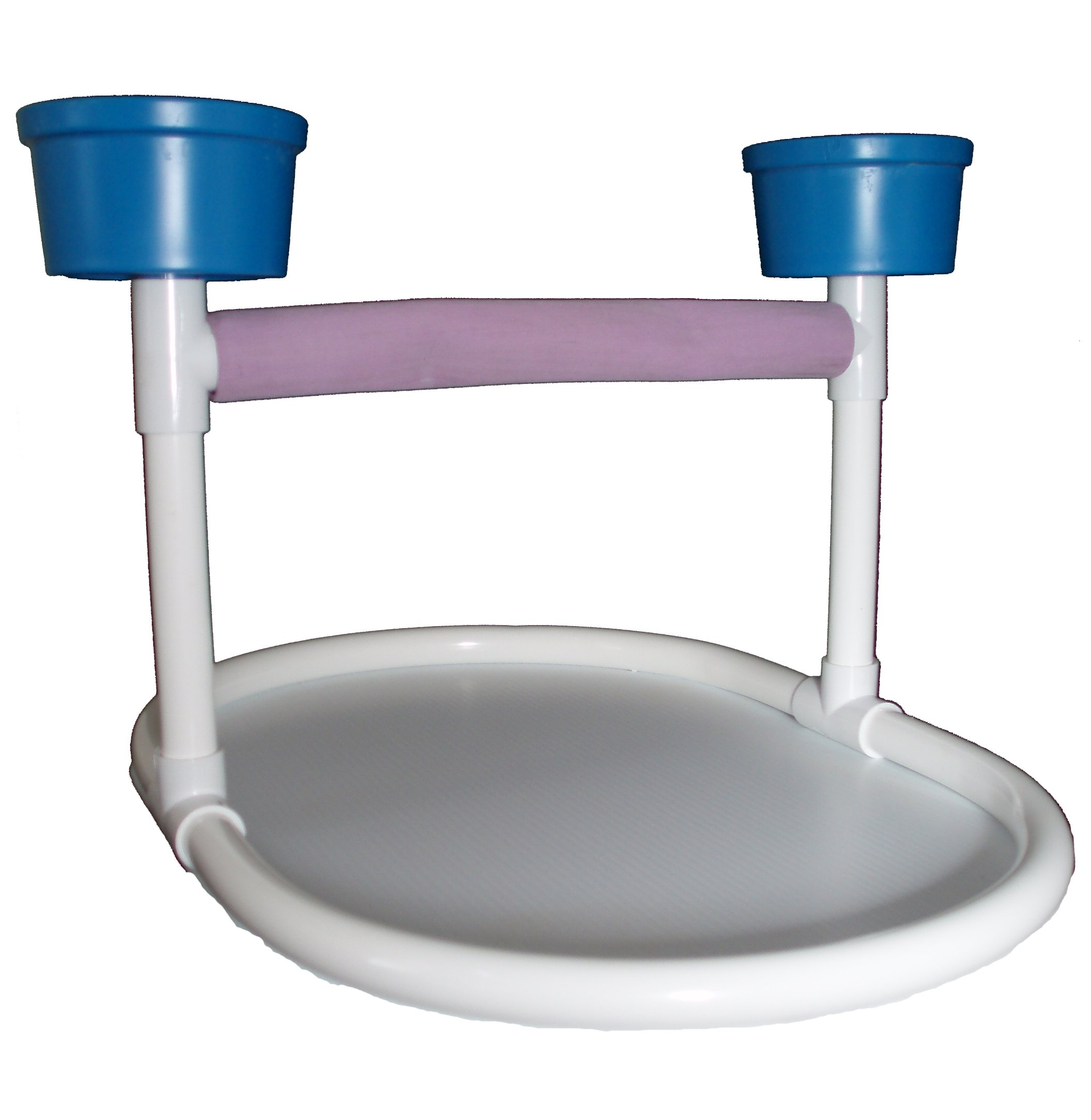 FeatherSmart Large Bird Table Top Stand w/Cups by FeatherSmart Bird Parrot Table Top Stand
