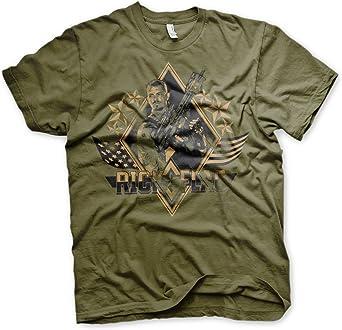 Suicide Squad Oficialmente Licenciado Rick Flag Hombre Camiseta (Verde Oliva): Amazon.es: Ropa y accesorios