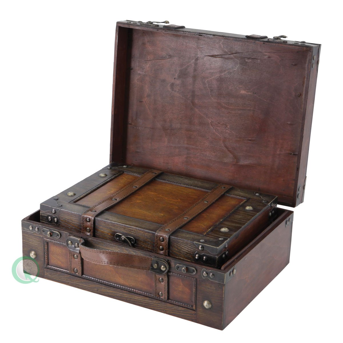 Amazon.com: Vintiquewise(TM) Old Style Suitcase/Decorative Box ...