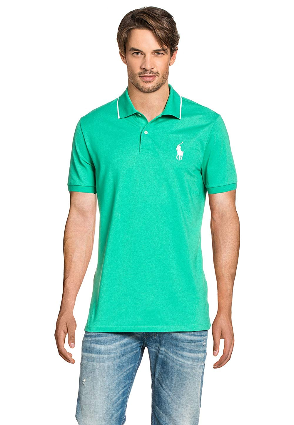 Polo Ralph Lauren Mens Polo Shirt Turquoise, tamaño:S: Amazon.es ...