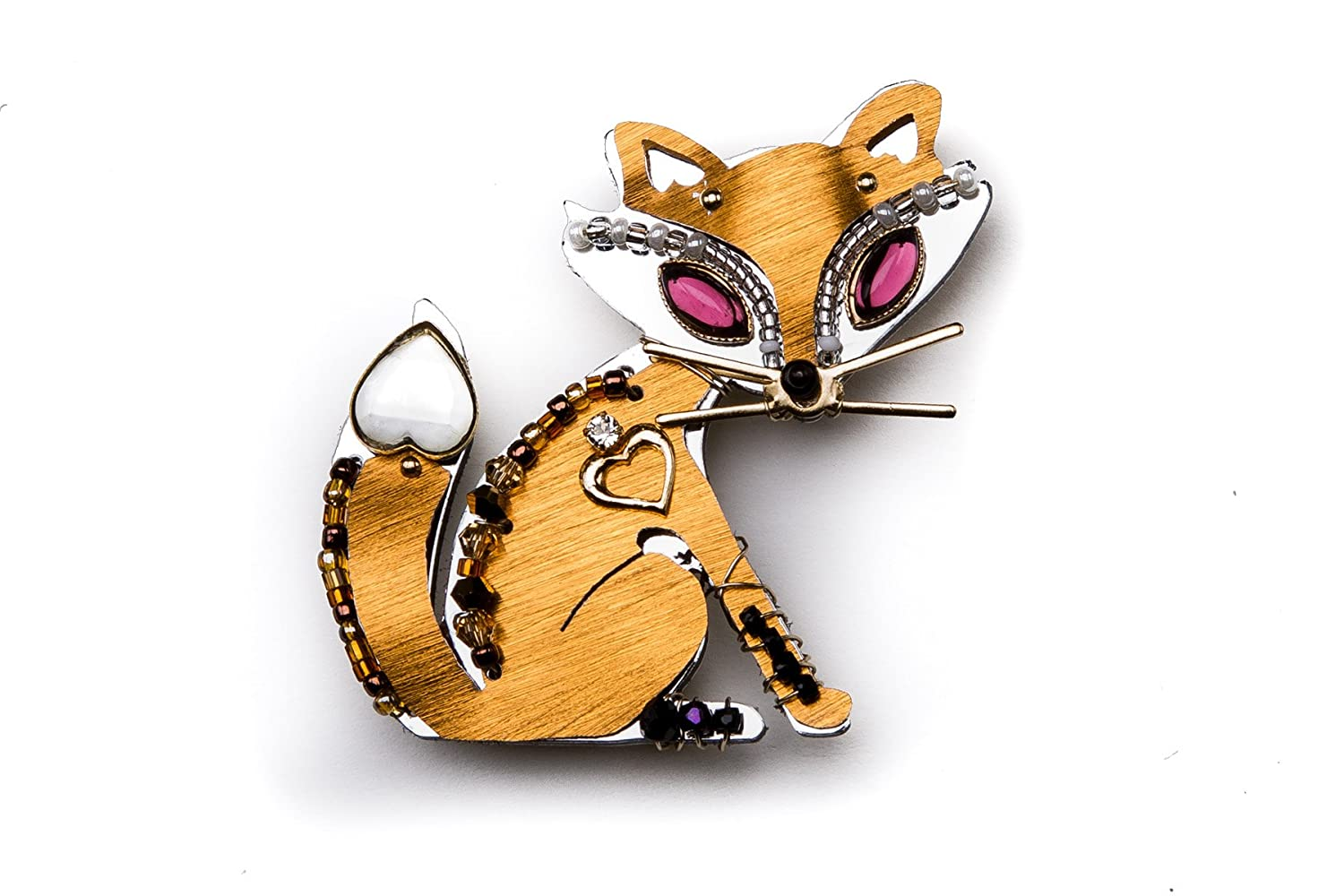 Liztech Miss Foxy Pin Fox Brooch Wildlife Jewelry