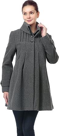 Momo Maternity Outerwear Women S Jessie Wool Pleated Swing Coat Pregnancy Winter Jacket At Amazon Women S Clothing Store
