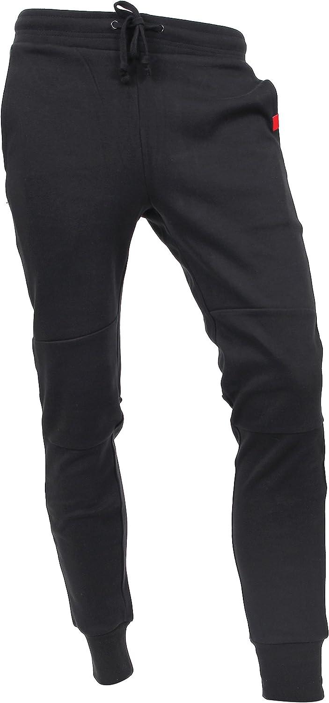 Small, DP-61 Black Hat and Beyond Casual Fleece Jogger Pants Active Elastic Urban Biker Slim Fit