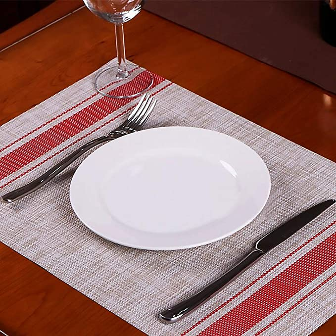 "Amazon.com: nucookery 11"" Platos llanos blanco – grande ..."