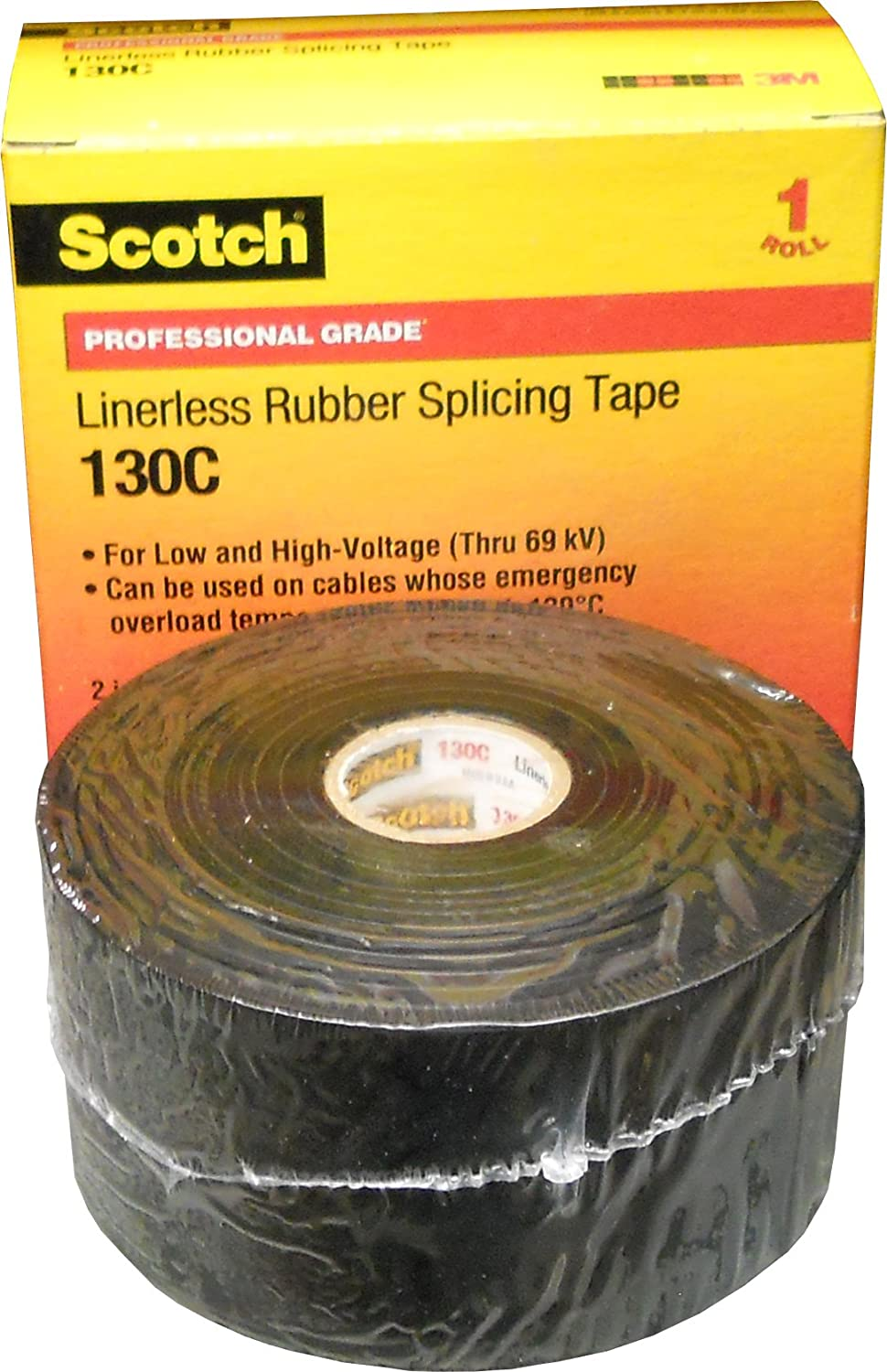 3M 130C (3/4'X30FT) TAPE, SEALING, RUBBER, BLACK 0.75INX30FT