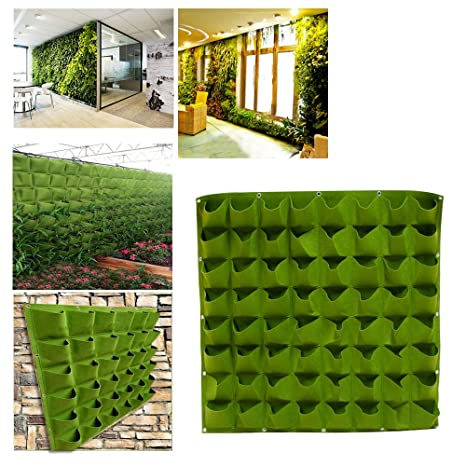Zorvo 64 Pockets Planting Grow Bags/Wall Planter For Indoor Plants/Hanging  Wall Planter