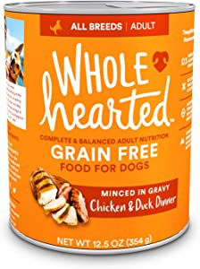 Petco Brand - WholeHearted Grain-Free Adult Chicken and Duck Dinner Wet Dog Food, 12.5 oz., Case of 8, 8 X 12.5 OZ