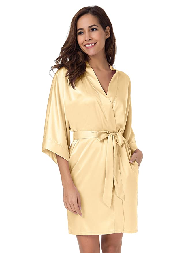 SIORO Personalisiert Kimono Schlafanzug Hochzeitsfeier Hausmantel ...