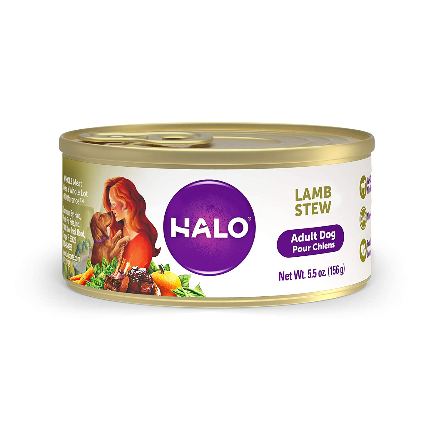 Halo Natural Wet Dog Food, Lamb Recipe