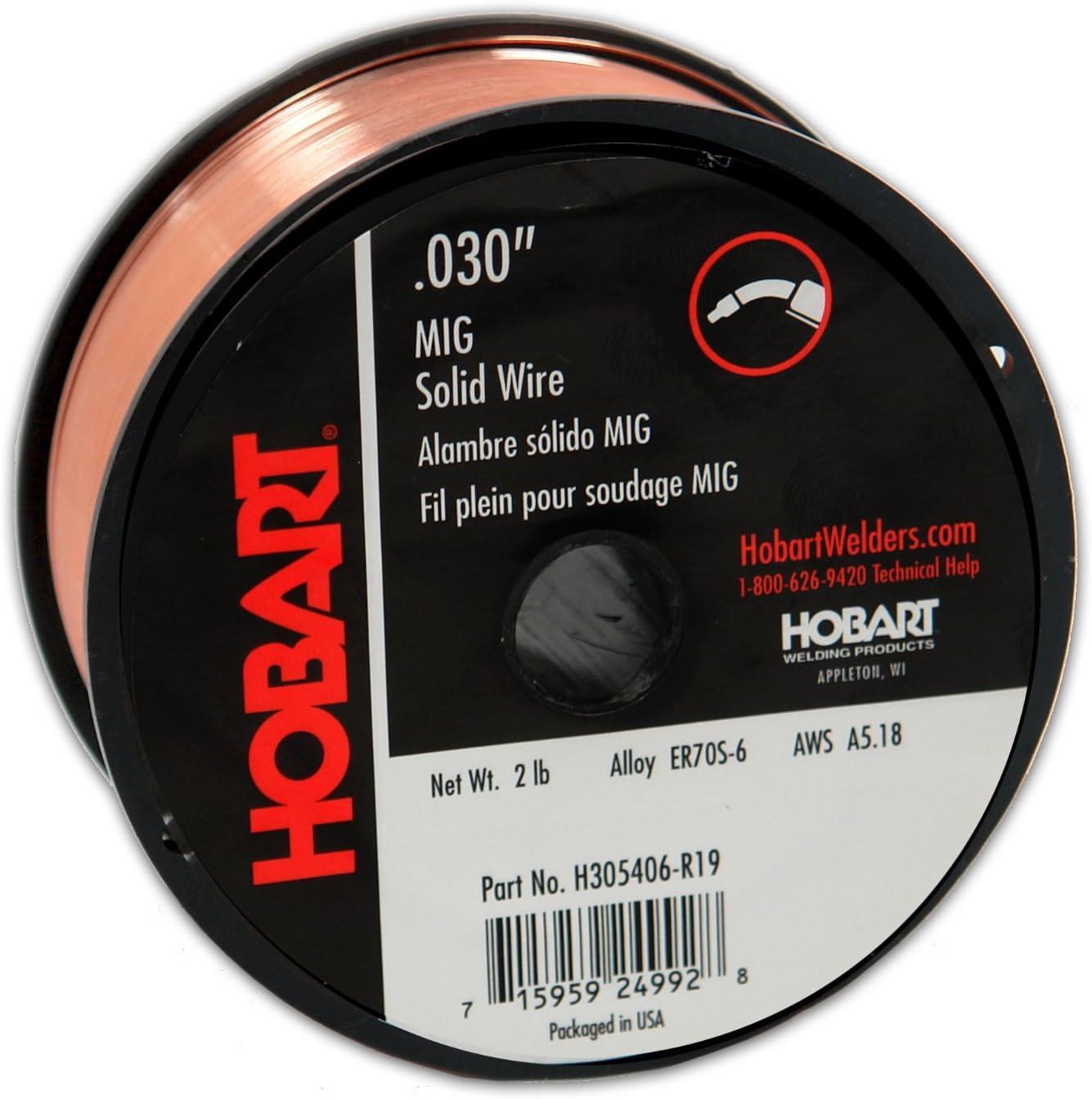 B00012Y0DA Hobart H305406-R19 2-Pound ER70S-6 Carbon-Steel Solid Welding Wire, 0.030-Inch 71S7LvS94GL