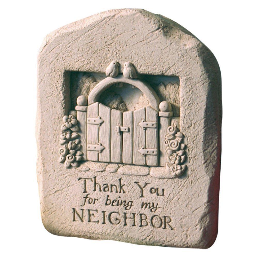 Thank You Neighbor壁プラーク/ Garden Statue S 1141 B009BCJMP2 ナチュラルストーン S