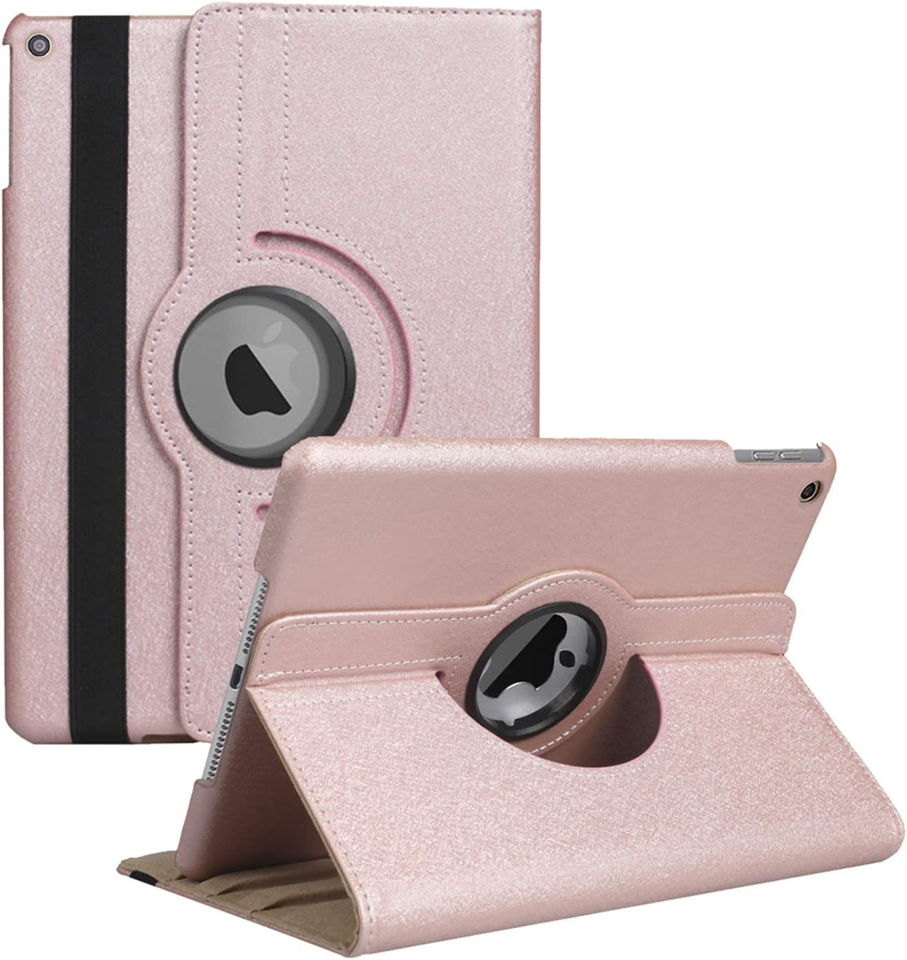 New iPad 8th Gen (2020) / 7th Generation (2019) 10.2 Inch Case - Rotating Stand Smart Cover Case with Auto Sleep Wake for Apple iPad 10.2