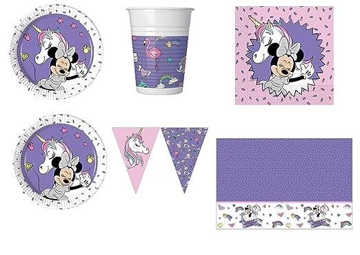 Minnie Unicornio Fiesta kit N ° 30 CDC - (40 platos, 40 ...