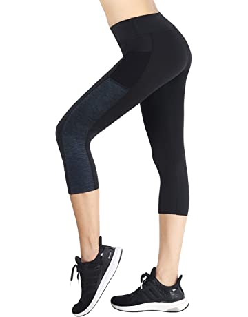 0546e8ff26e2b6 Neonysweets Women's Ladies Workout Leggings With Pockets Running Yoga Pants  Ankle Length