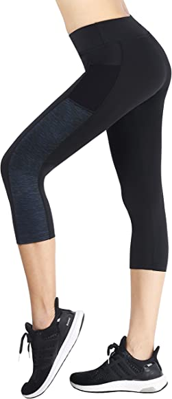 Buttery Soft Elastic Opaque Tummy Control Leggings Plus Size Slim Stretchy Pants for Workout Gym Yoga SINOPHANT High Waisted Capri Leggings for Women