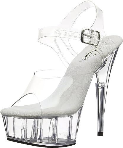 Pleaser Aspire-608 Shoes Platform Sandals High Heels Ankle Strap Pole Dancing
