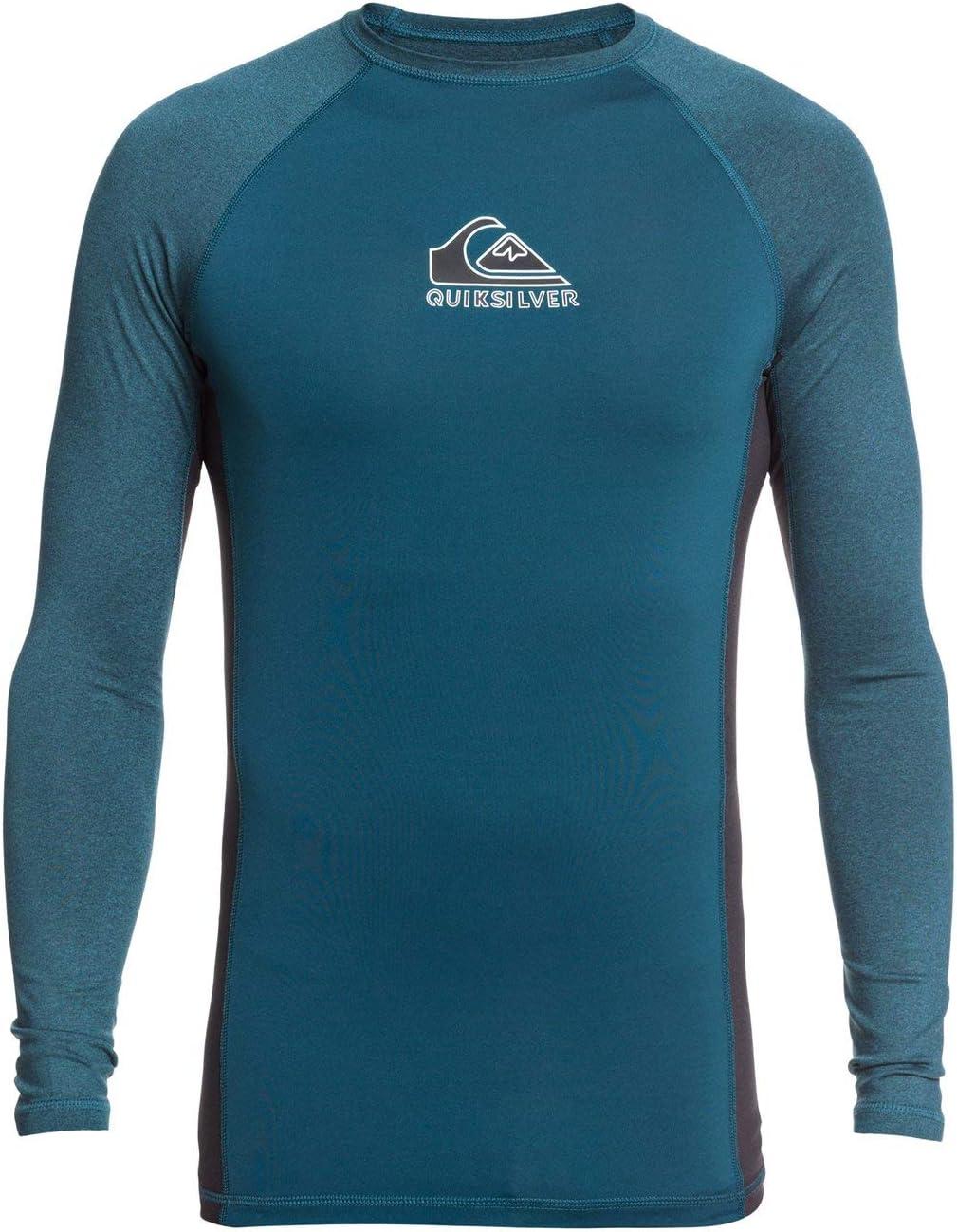 Quiksilver Backwash-Rash Vest UPF 50 A Maniche Lunghe da Uomo