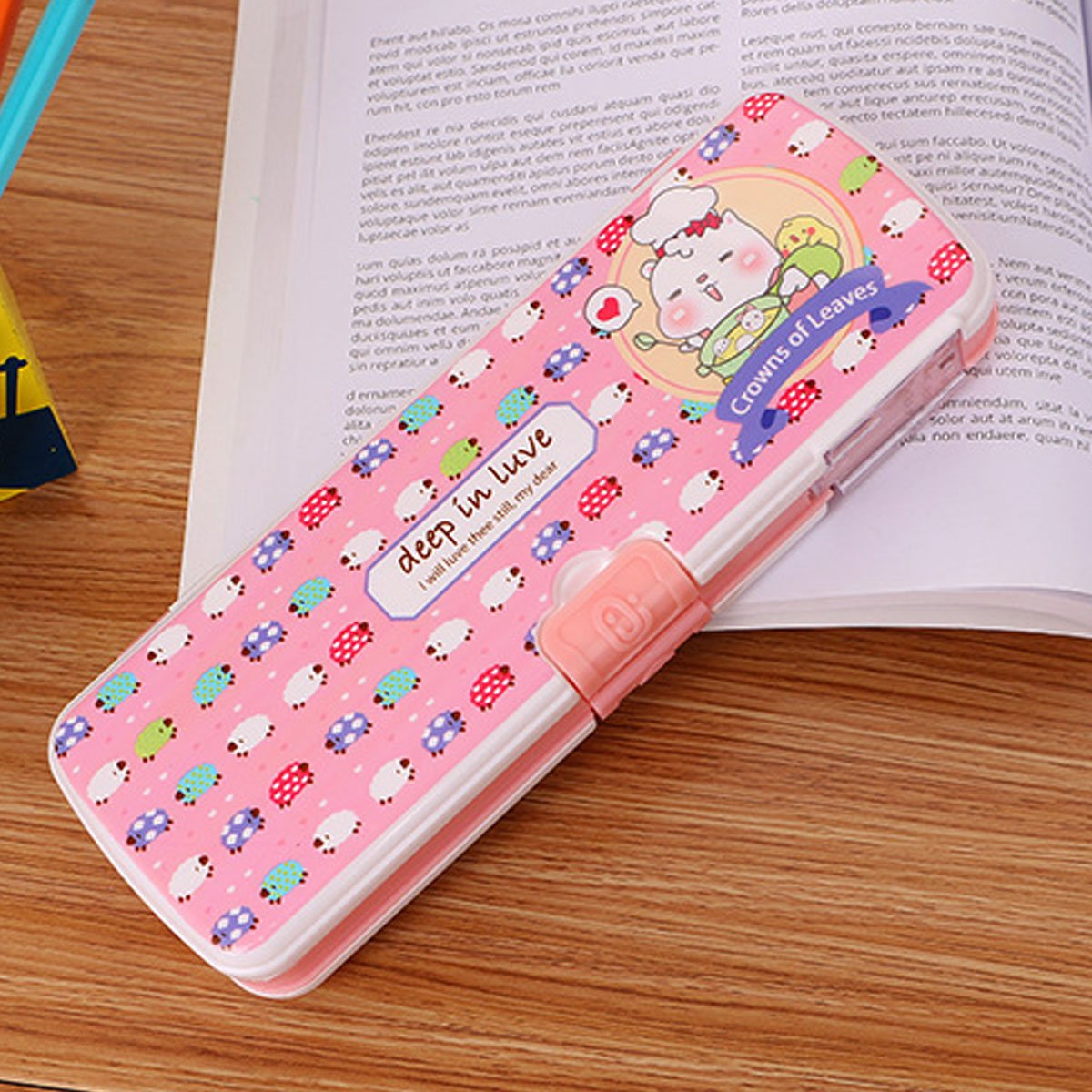 Aisa Colorful Cartoon Animals Pattern Pencil Case Multifunctional Pencil Box for Student Special Gifts for Children/Kids by Aisa (Image #6)