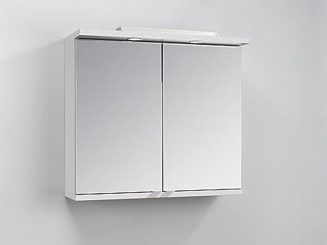 Gut bekannt Homexperts Badezimmer Spiegelschrank NUSA mit LED-Beleuchtung EN02