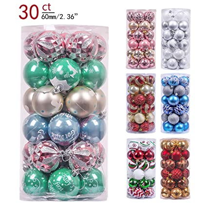 Valery Madelyn 30ct 60mm Babys First Christmas Shatterproof Christmas Ball Ornaments Decorationthemed Tree Skirt
