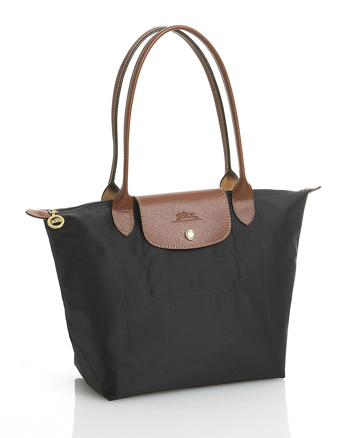 Amazon.com  Longchamp Pliages Black Medium Tote Bag Purse  Shoes 0b7b35c4be076