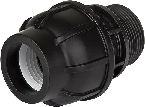 Kunststoff Verschraubung T-Stück 40mm x 1 1//2 Zoll AG T-Stücke Fitting PE Rohr