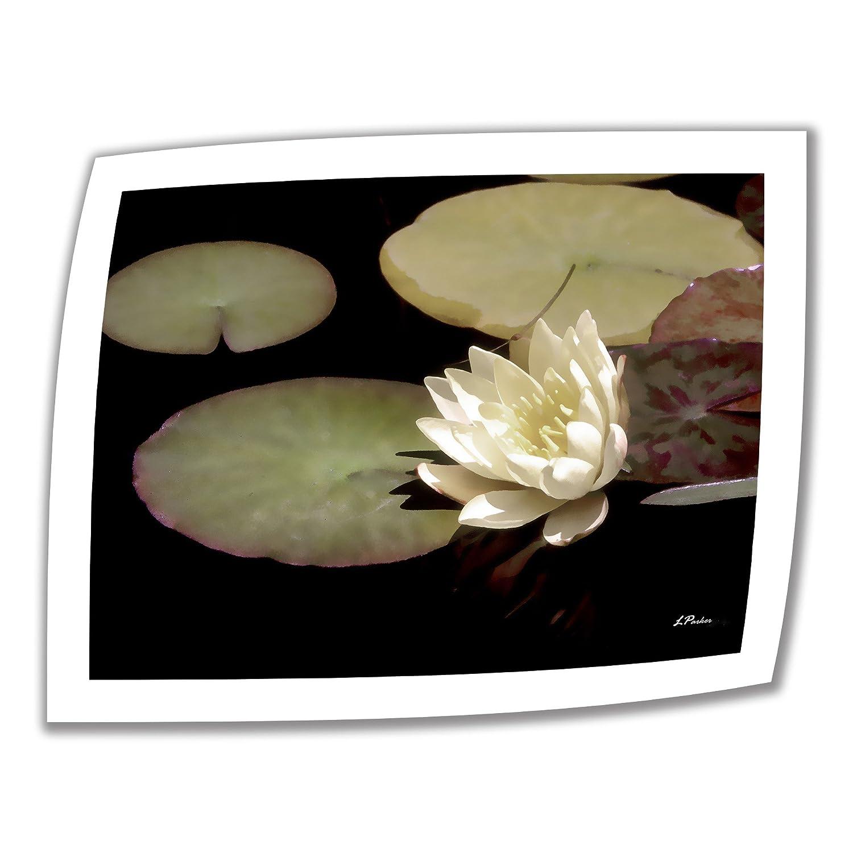 アートウォール 22×28インチ Water Lily I アンラップキャンバスアート リンダパーカー作 2インチアクセントボーダー B00BUJ1L6C